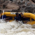 whitewater raft flip in Swaziland
