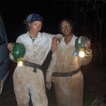 Two ladies on a caving trip, Kingdom of Swaziland