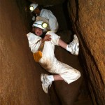 "Caving involves mastering techniques such as ""body-jamming"""
