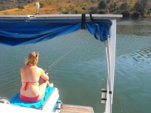 Rent a house boat and go fishing in Swaziland