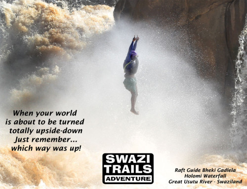 Crazy raft guide in Swaziland